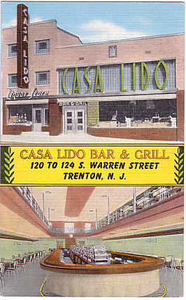 Old Postcard for the Casa Lido Bar